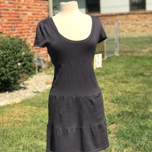 Derek Heart Short Sleeve Scoop Neck Gray Dress